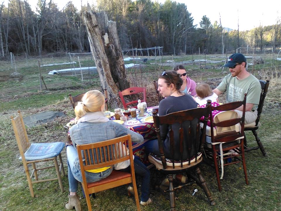 Spring Namas Farmhouse Supper outside